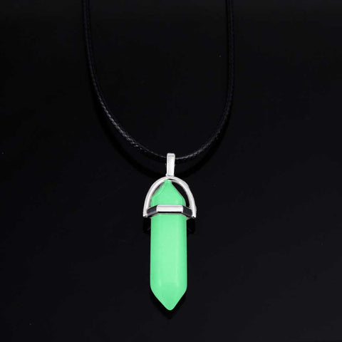 Fluorescent/Glow in the Dark Hexagonal Pendant Necklace - The Urban Fest eStore