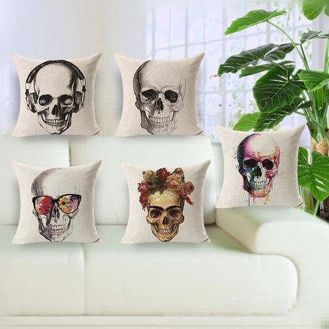 Vintage Skull Throw Pillow Case - The Urban Fest eStore
