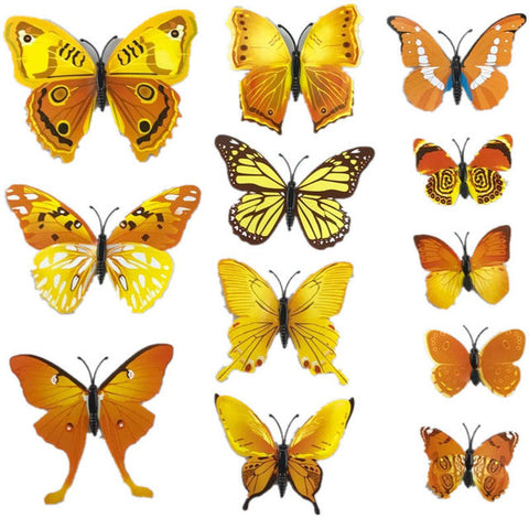 3D Magnet Butterfly Wall Decoration Stickers for Wedding Party Home ...