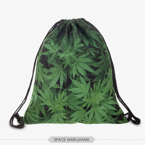 3D Printing Weed Drawstring Bag - The Urban Fest eStore