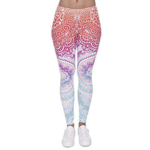 Aztec Round Ombre Print Legging - The Urban Fest eStore