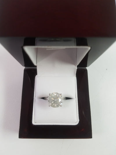 5.64 Carat H Color Diamond Ring Set in 14k White Gold Size Size Size!