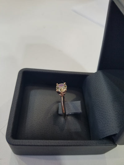.82 Carat Champagne VS Diamond Round set in Beautiful 14k Rose Gold Won't Last!!