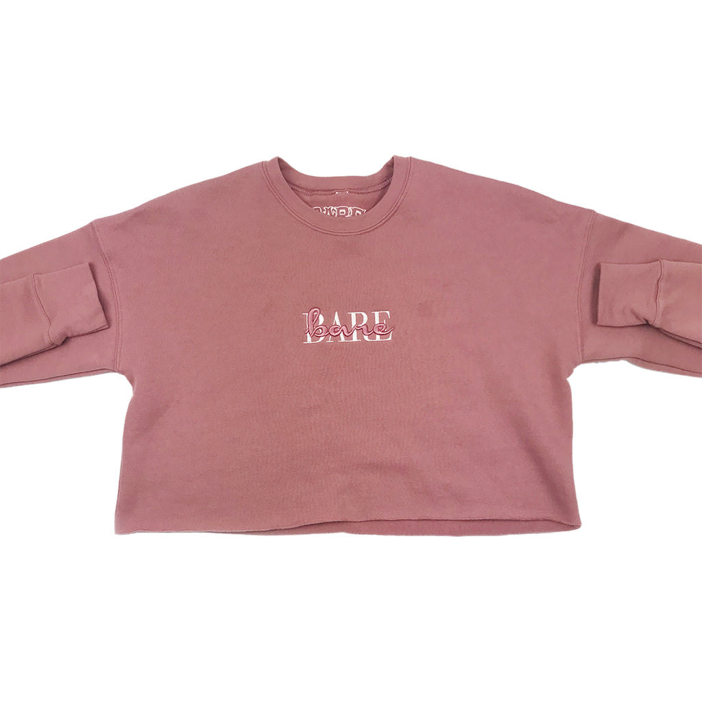WOMEN'S CROPPED CREW NECK | MAUVE