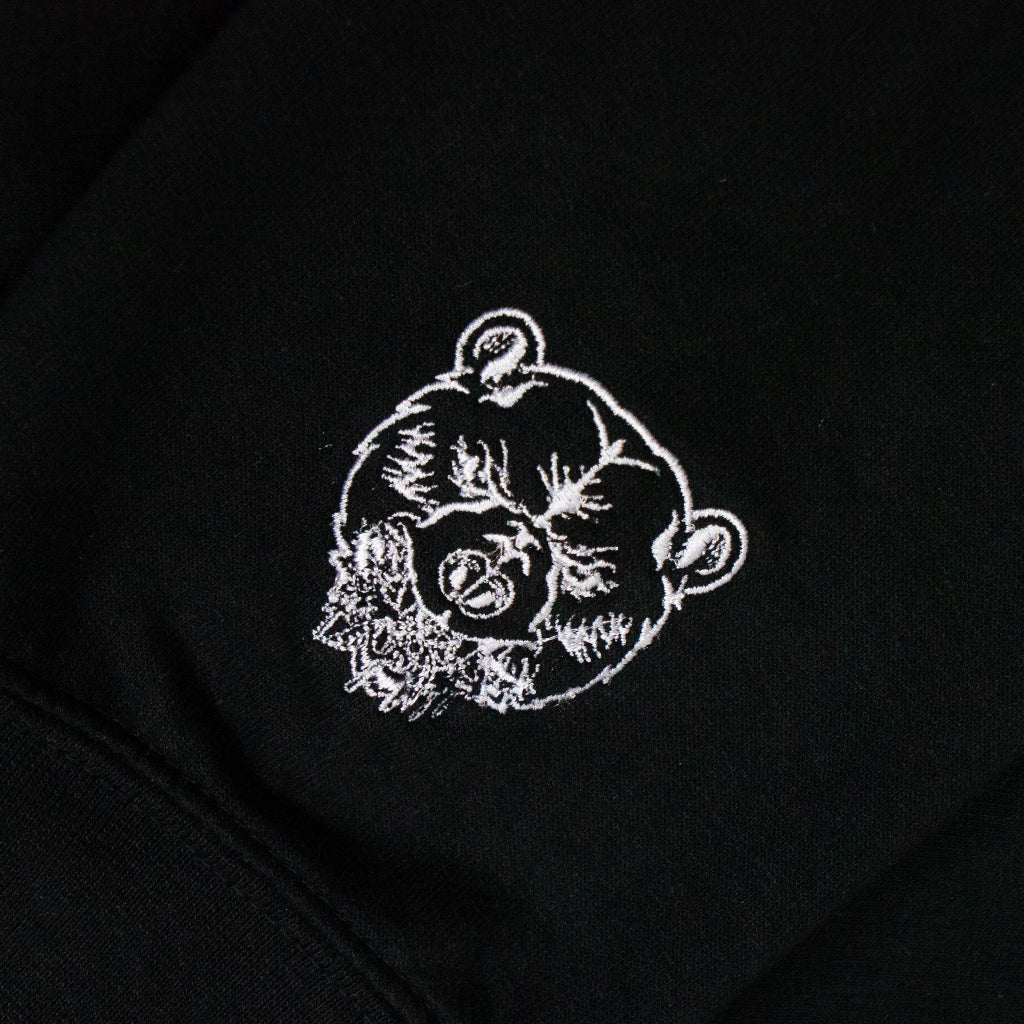ZIP UP HOODIE | BLACK & WHITE