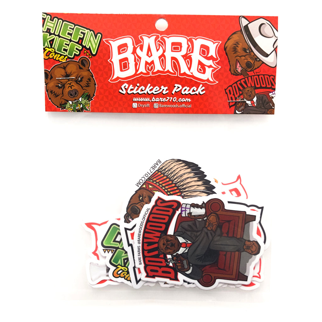 BARE ASSORTED STICKER PACK - 10 STICKERS