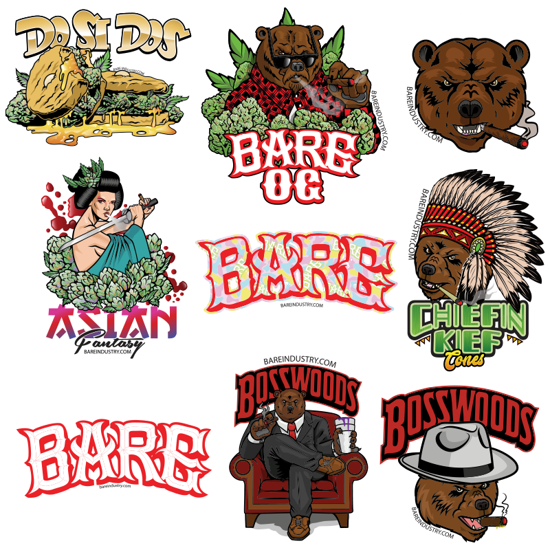 BARE ASSORTED STICKER PACK V.1 - 10 STICKERS