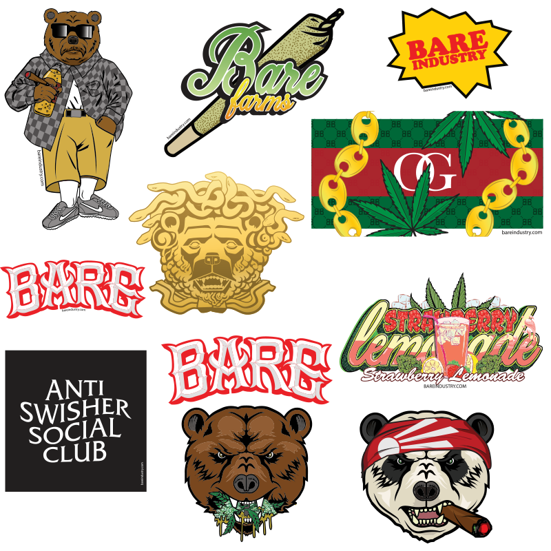 BARE ASSORTED STICKER PACK V.3 - 10 STICKERS
