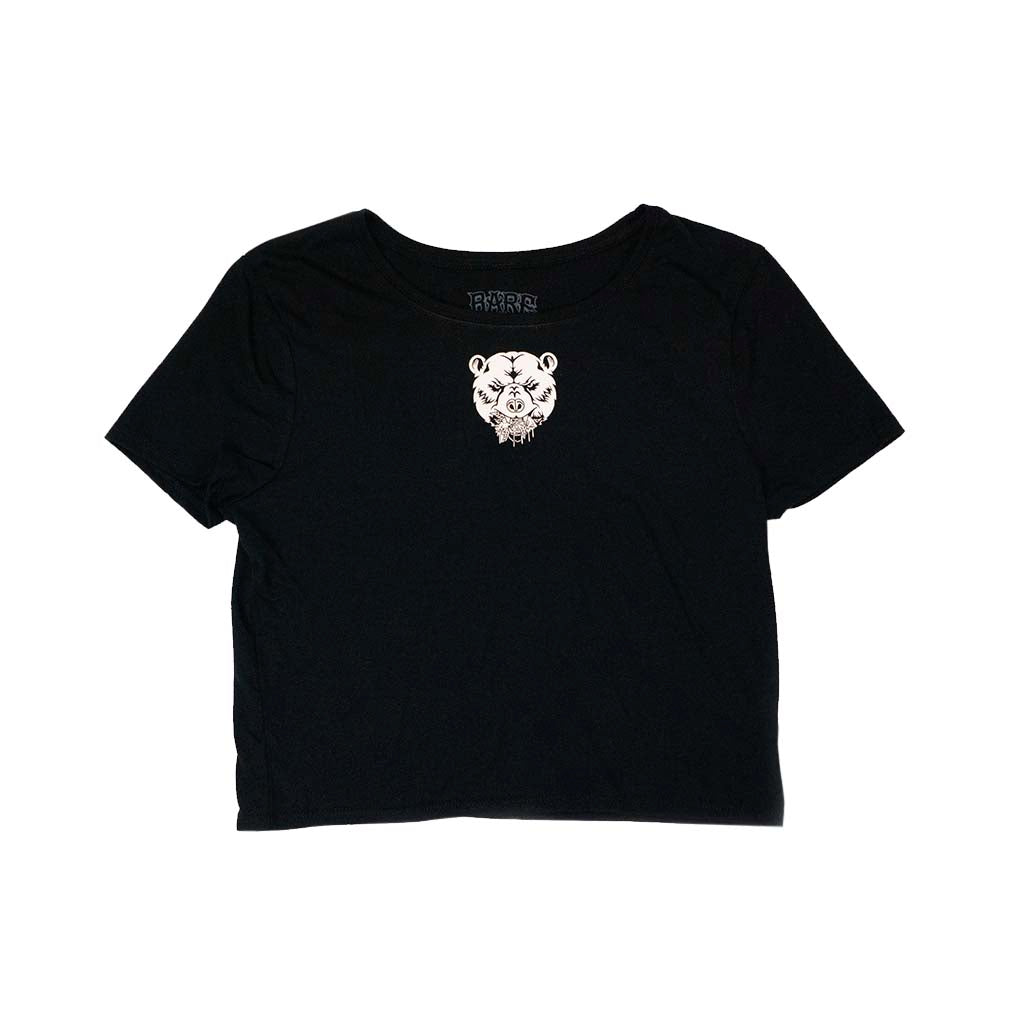WOMEN'S CROP TOP | BLACK & WHITE
