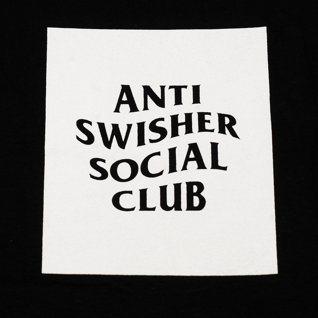 ANTI SWISHER SOCIAL CLUB TEE | BLACK