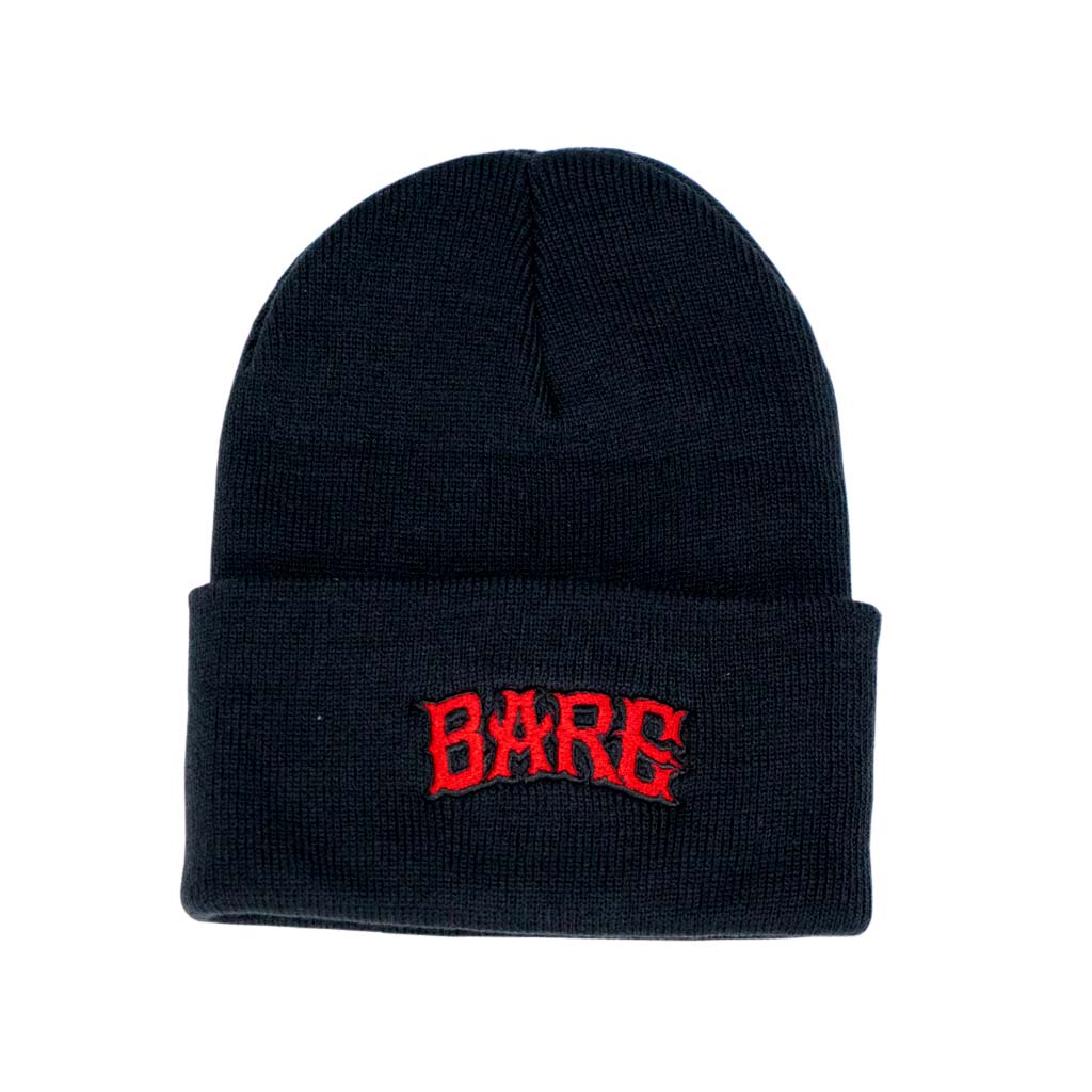 BEANIE | BLACK & RED