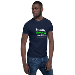Beer Lime and Sunshine Men's Short-Sleeve Unisex T-Shirt