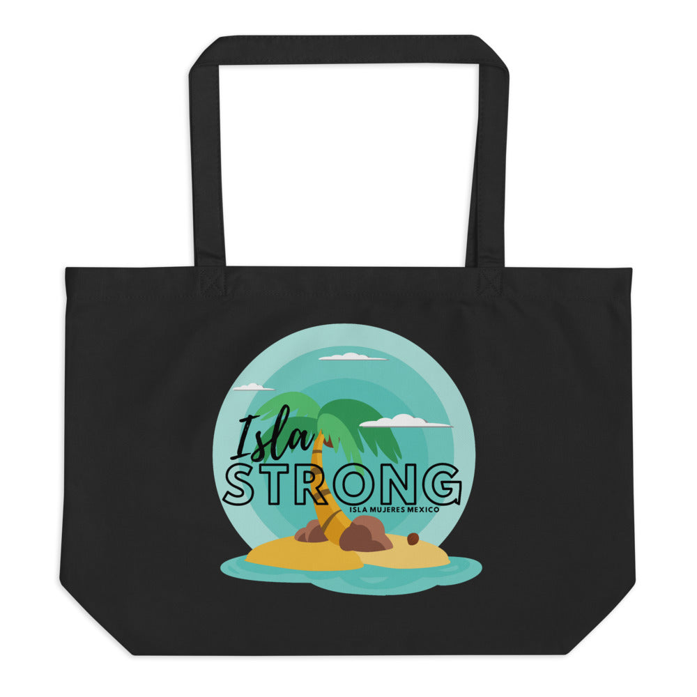 Isla Strong Colorful Island Large organic tote bag