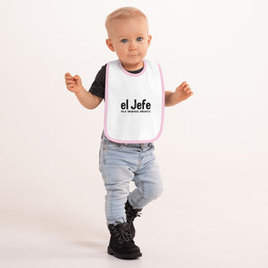 el Jefe Embroidered Baby Bib