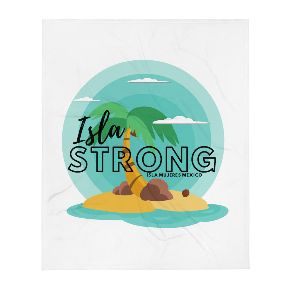 Isla Strong Colorful IslandThrow Blanket for Charity