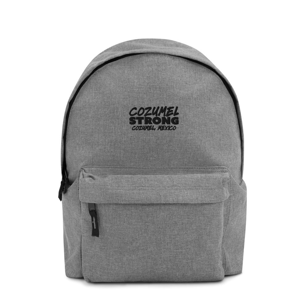 Cozumel Strong Embroidered Backpack