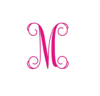 Vinyl Decal- 3 Inch Single Initial Monogram