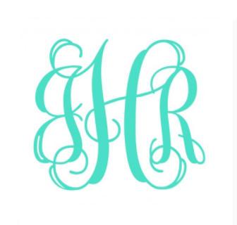 Vinyl Decal- 5 Inch Interlocking Monogram