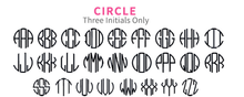 Vinyl Decal- 5 Inch Circle Monogram