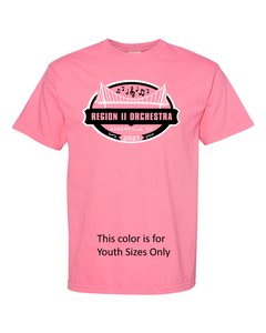 Region II Orchestra T-Shirt 2021-Heather Berry