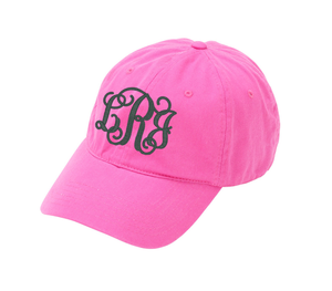 Pink Cap with Fancy Monogram