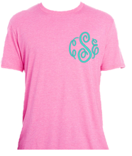 Pink T-Shirt with Fancy Monogram