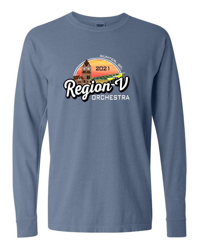 Region V Orchestra T-Shirt Long Sleeve 2021