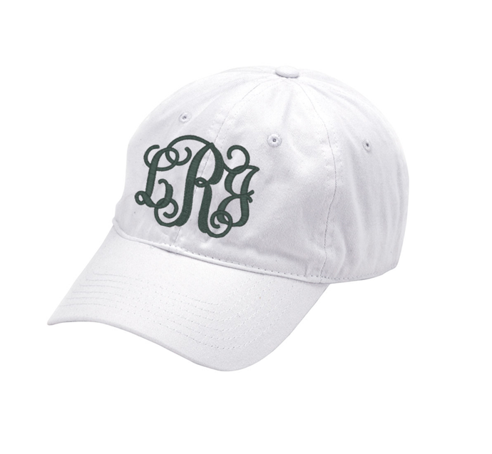 White Hat with Fancy Monogram