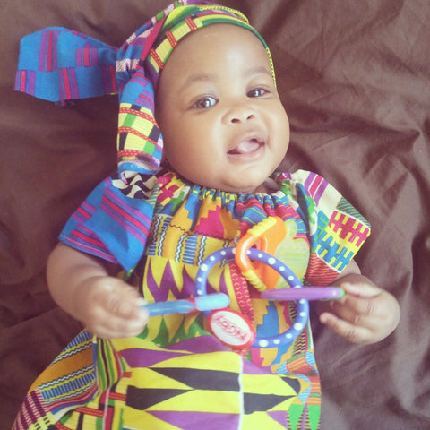 Colorful Kente Dress