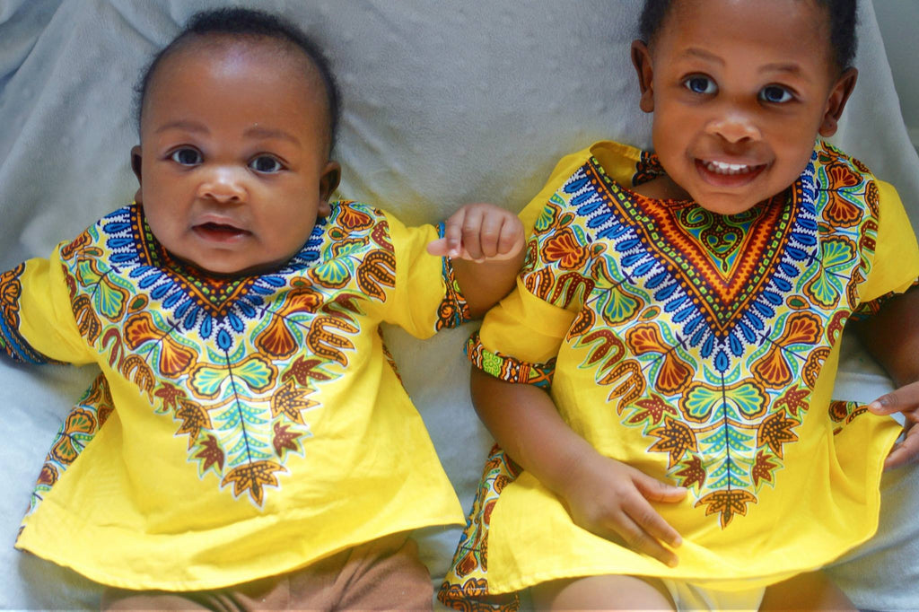 Yellow Baby Dashiki Top