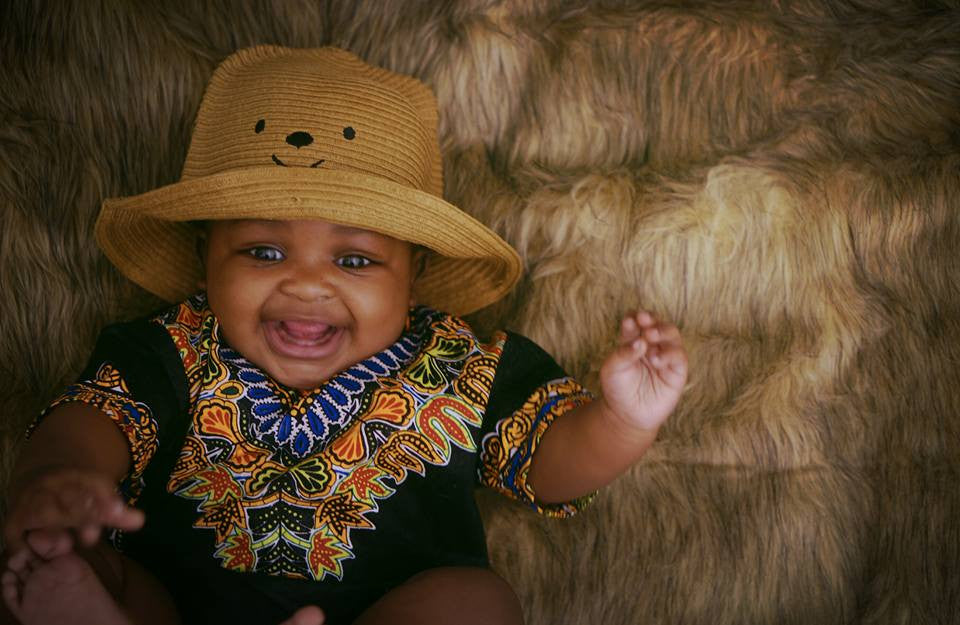 Black Baby Dashiki Top
