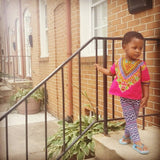 Pink Baby Dashiki Top