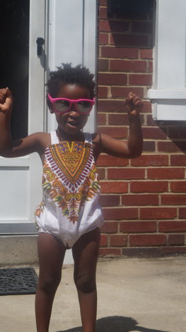 White Dashiki Sunsuit Pre-Order