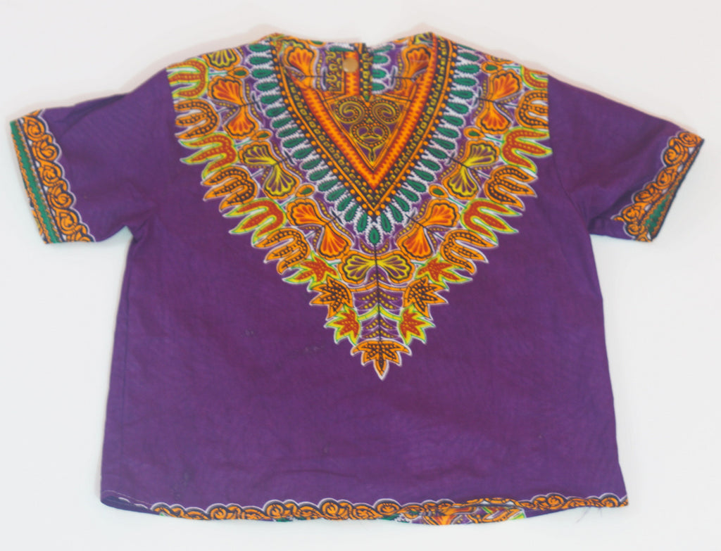 Purple Baby Dashiki Top