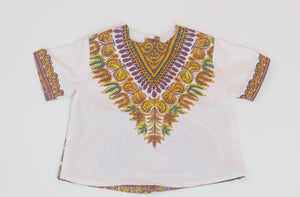 White Baby Dashiki Top