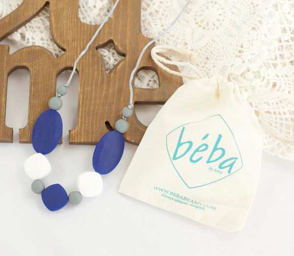 COUGAR BLUE - Mae teething necklace