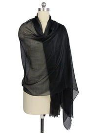 Delicate Solid Cashmere Scarf