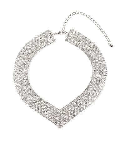V Neck Crystal Necklace