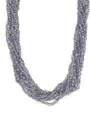 Multi Strand Short Crystal Necklace