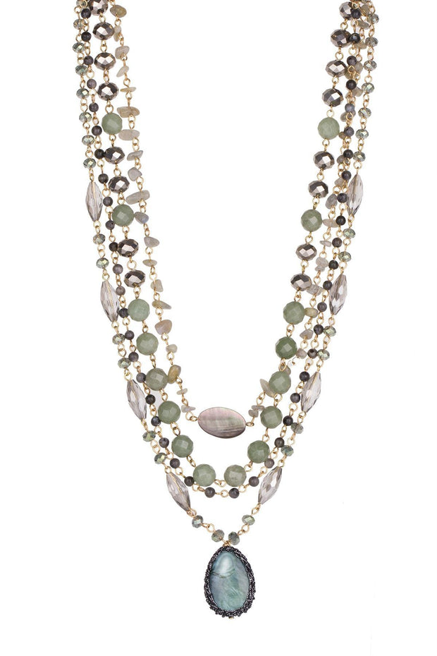 Marie Beaded Layered Necklace