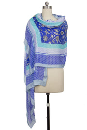 Bordered Print Mohatta Scarf