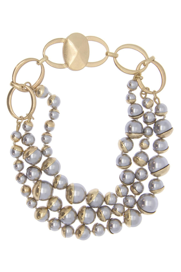 Half Moon Pearl Necklace