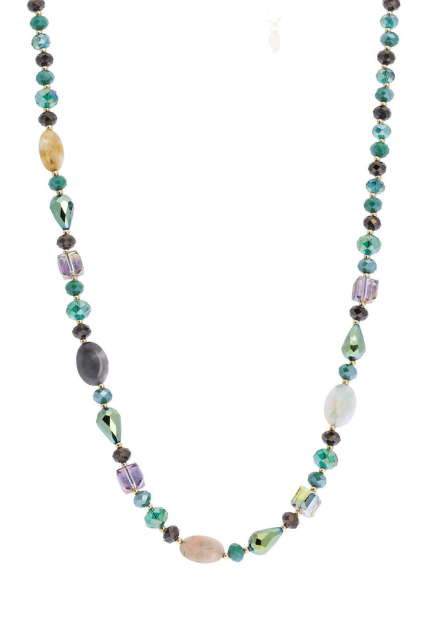 Broadcast Long Beaded Necklace
