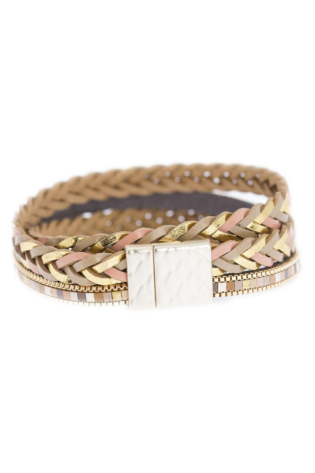 All Tied Up Braided Leather Bracelet