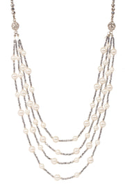 Convertible Multi Layer Pearl Necklace