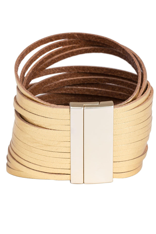 Line Up Leather Bracelet