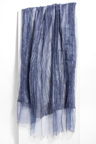 Diaphanous Pleated Lightweight Silk Scarf
