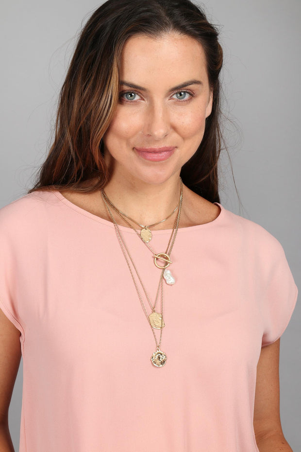 Doubloon Layered Necklace