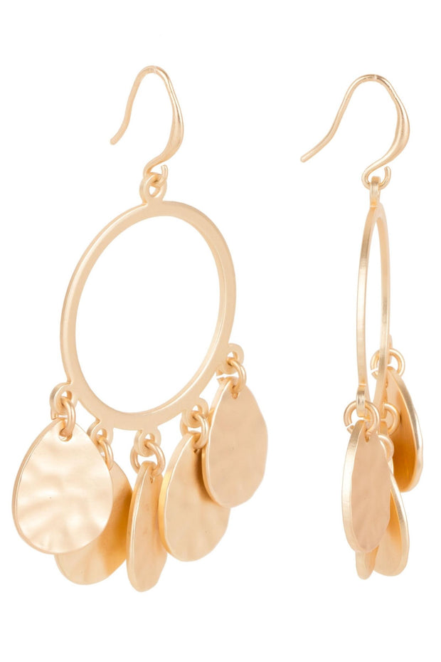 Lucky Leaf Hoop Earring
