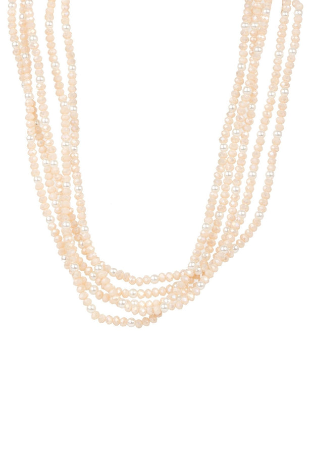 Short Crystal Pearl Necklace